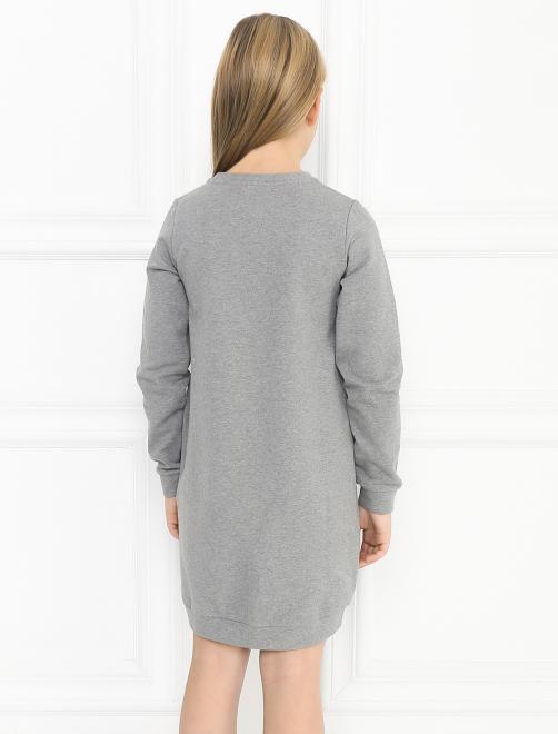 Платье трикотажное с аппликацией - МодельВерхНиз1