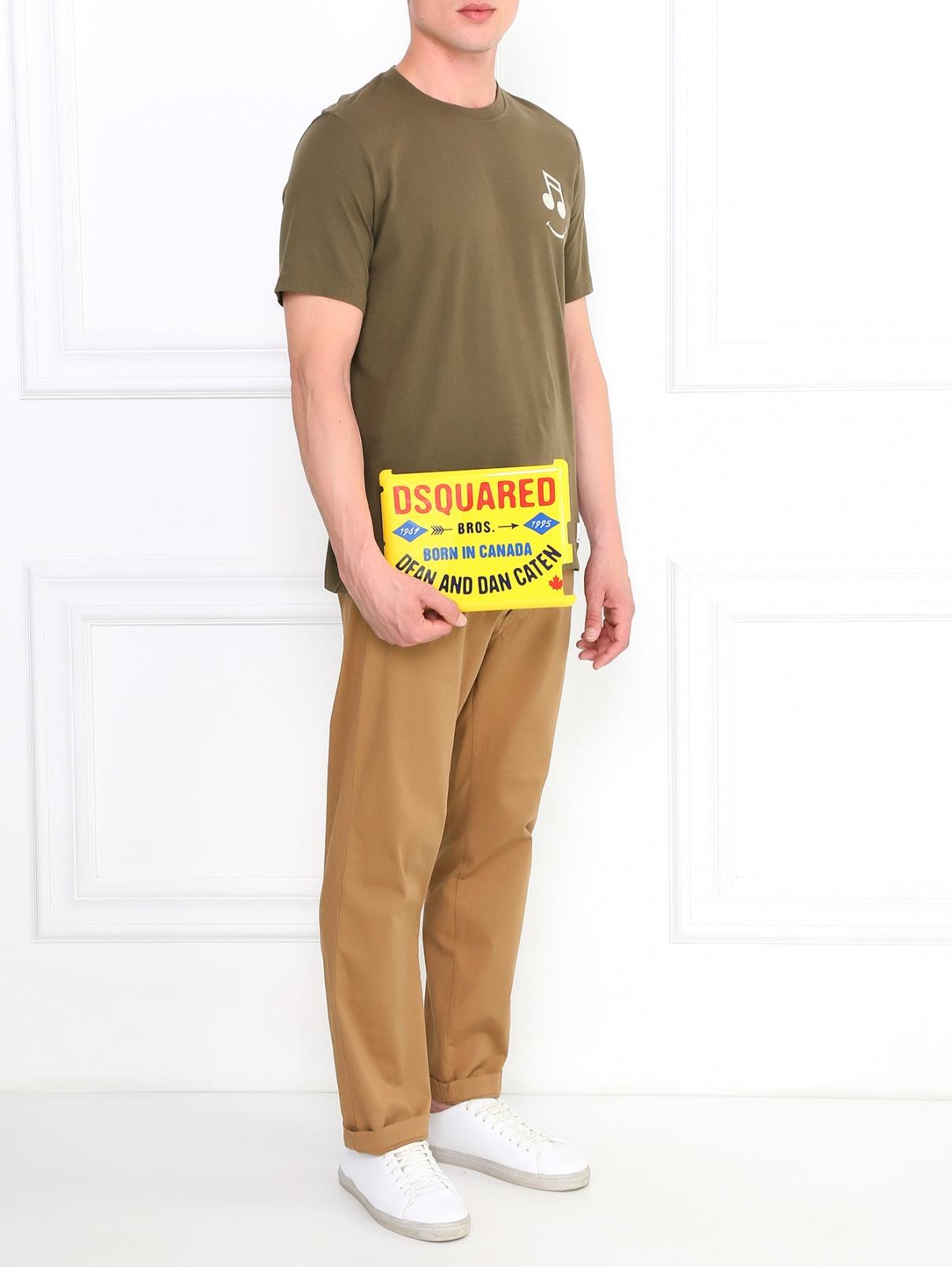 Чехол для IPad Dsquared2  –  Модель Общий вид  – Цвет:  Желтый