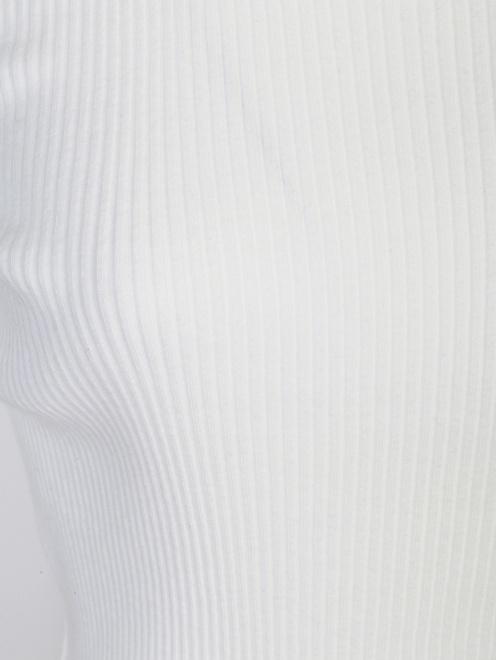 Трикотажная водолазка из хлопка с декором - Деталь