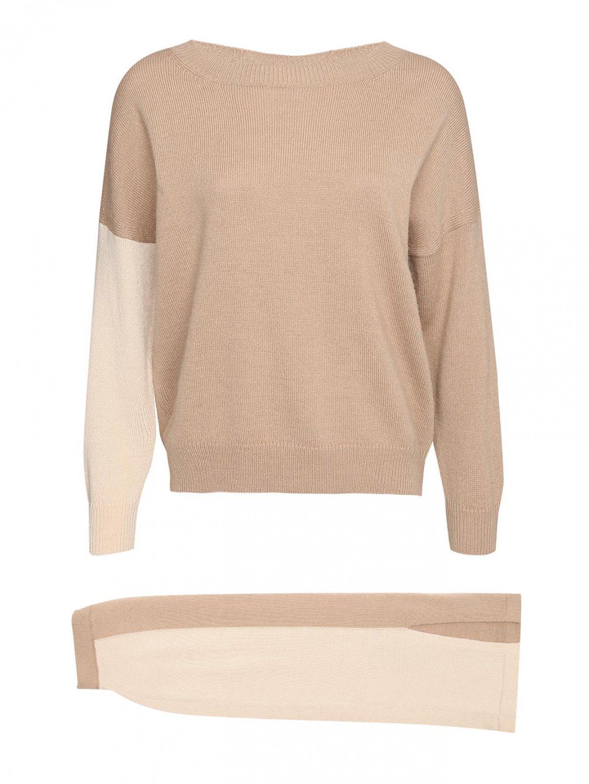 Комплект трикотажный из юбки и джемпера, шерстяной Max&Co  –  Общий вид