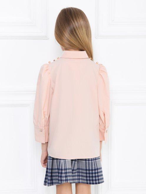 Рубашка хлопковая с декором из страз - МодельВерхНиз1
