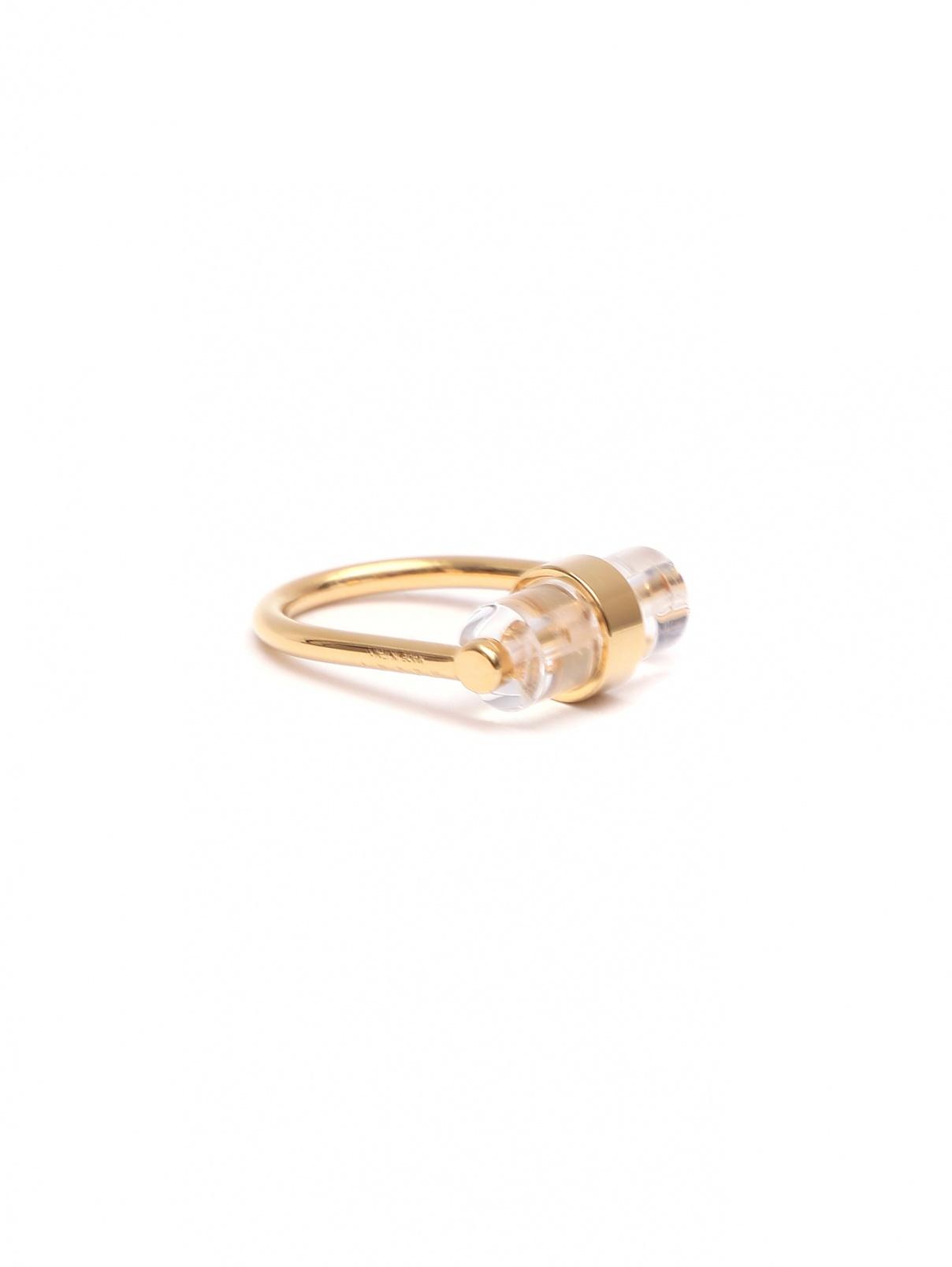 Кольцо из металла Marni  –  Общий вид  – Цвет:  Золотой