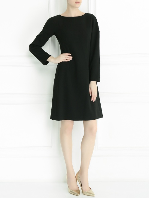 Платье с длинным рукавом - Общий вид
