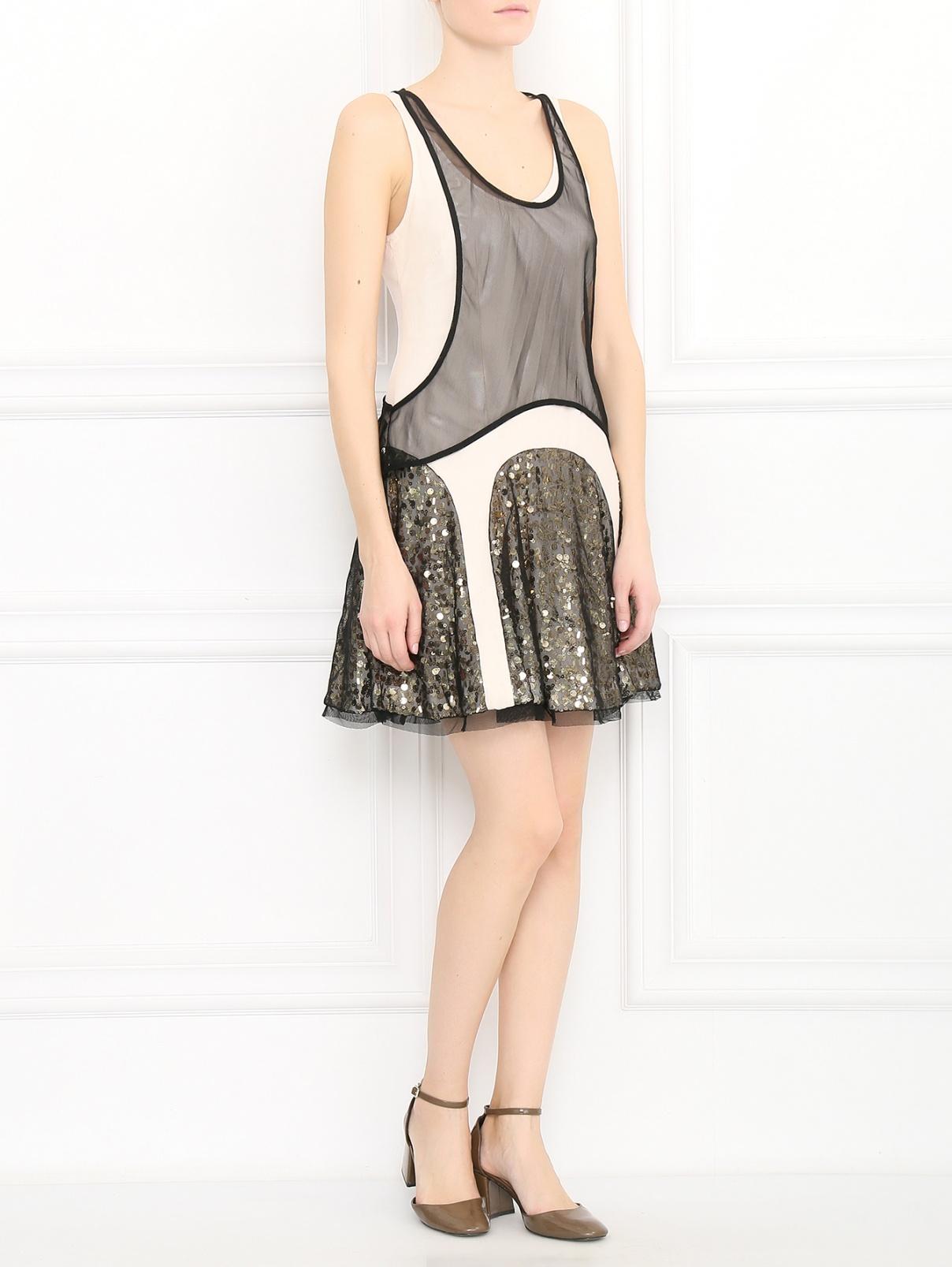 Платье-мини декорированное пайетками Rag & Bone  –  Модель Общий вид