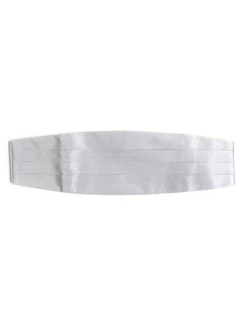 Набор из пояса и галстука-бабочки из шелка  - Обтравка2