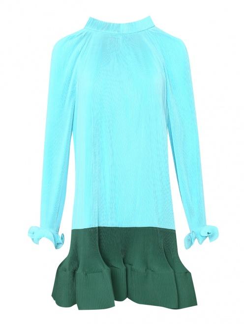 Платье из плиссированной ткани - Общий вид