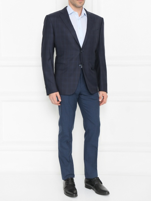 Пиджак из шерсти с узором - Общий вид