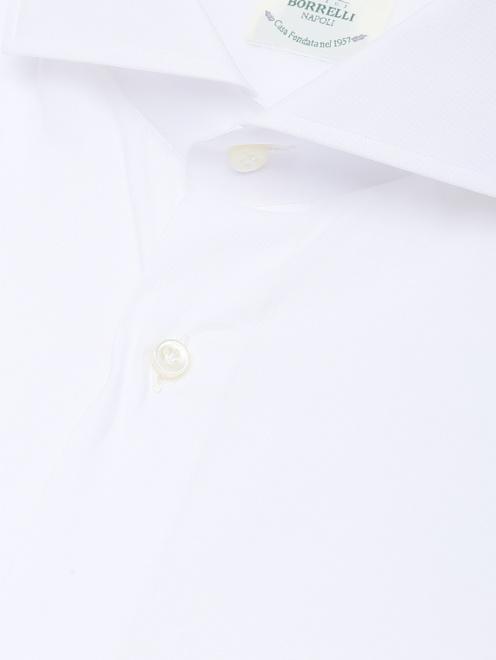 Рубашка их хлопка однотонная  - Деталь1