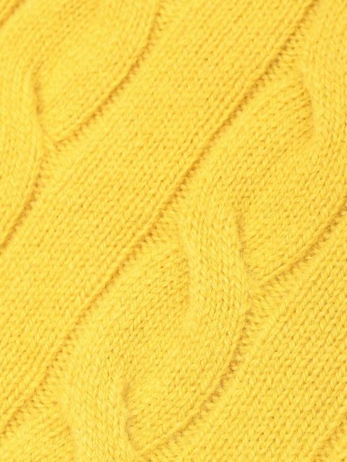 Водолазка из шерсти с узорной вязкой - Деталь