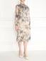 Платье из шелка с цветочным узором Charlotte Bialas  –  Модель Общий вид