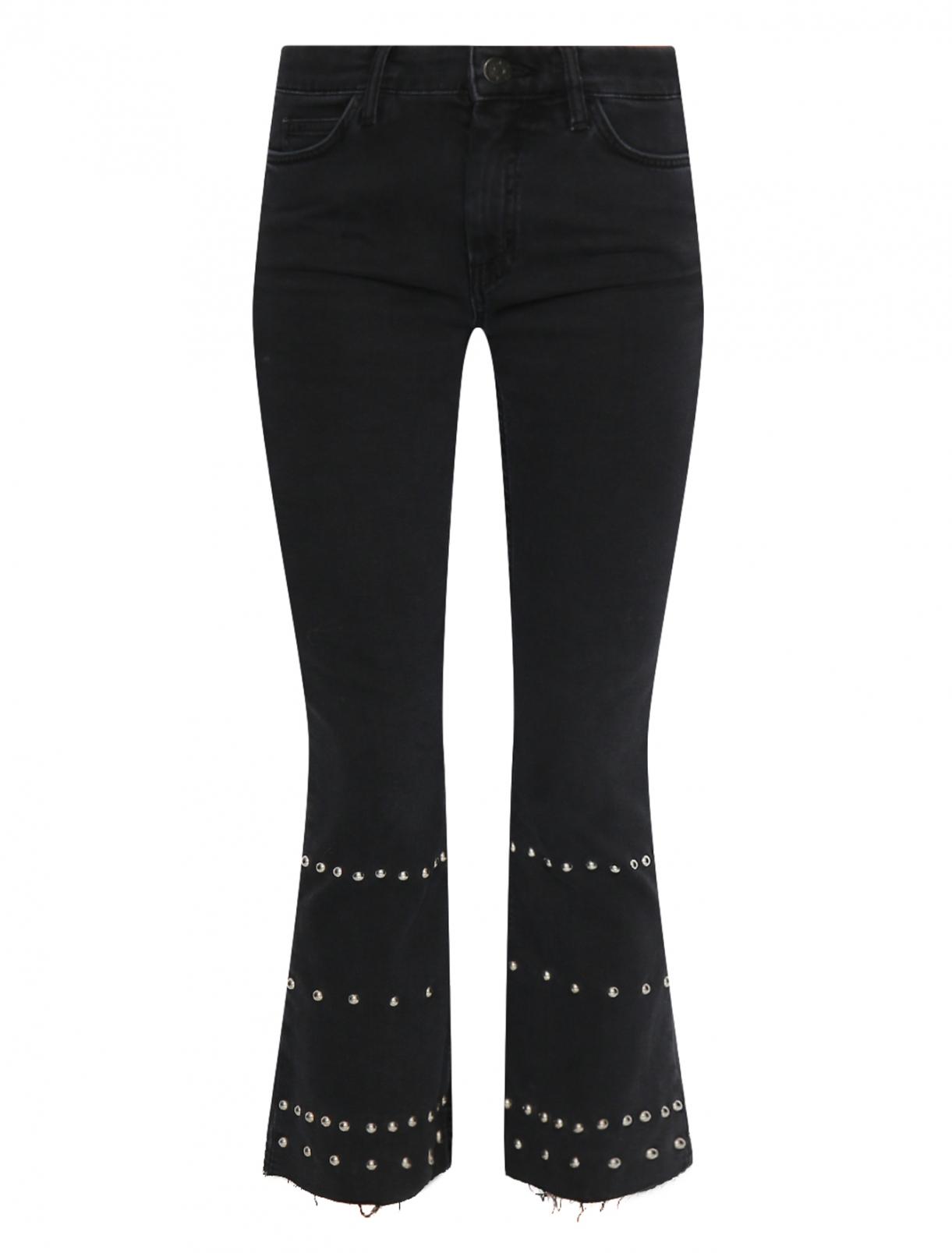 Укороченные джинсы с металлической фурнитурой M.i.h Jeans  –  Общий вид  – Цвет:  Черный