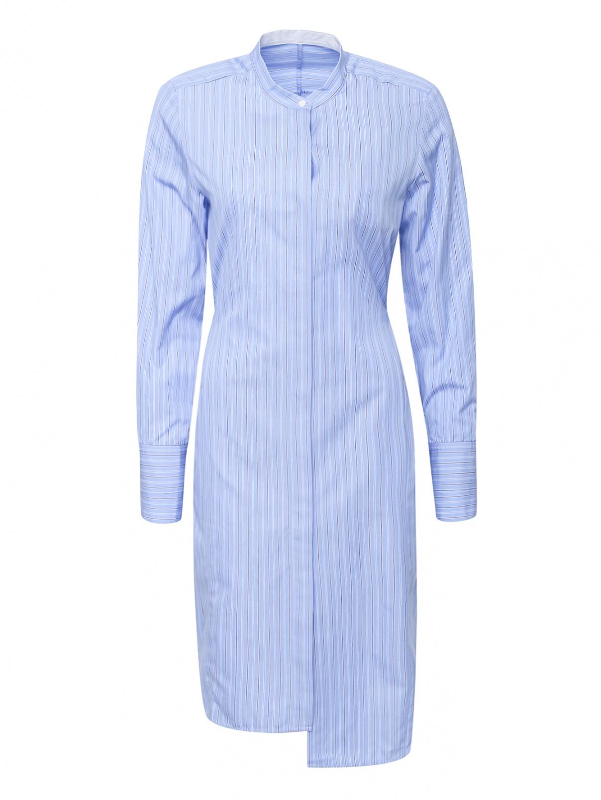 Платье- рубашка из хлопка с вшивным поясом Mo&Co  –  Общий вид