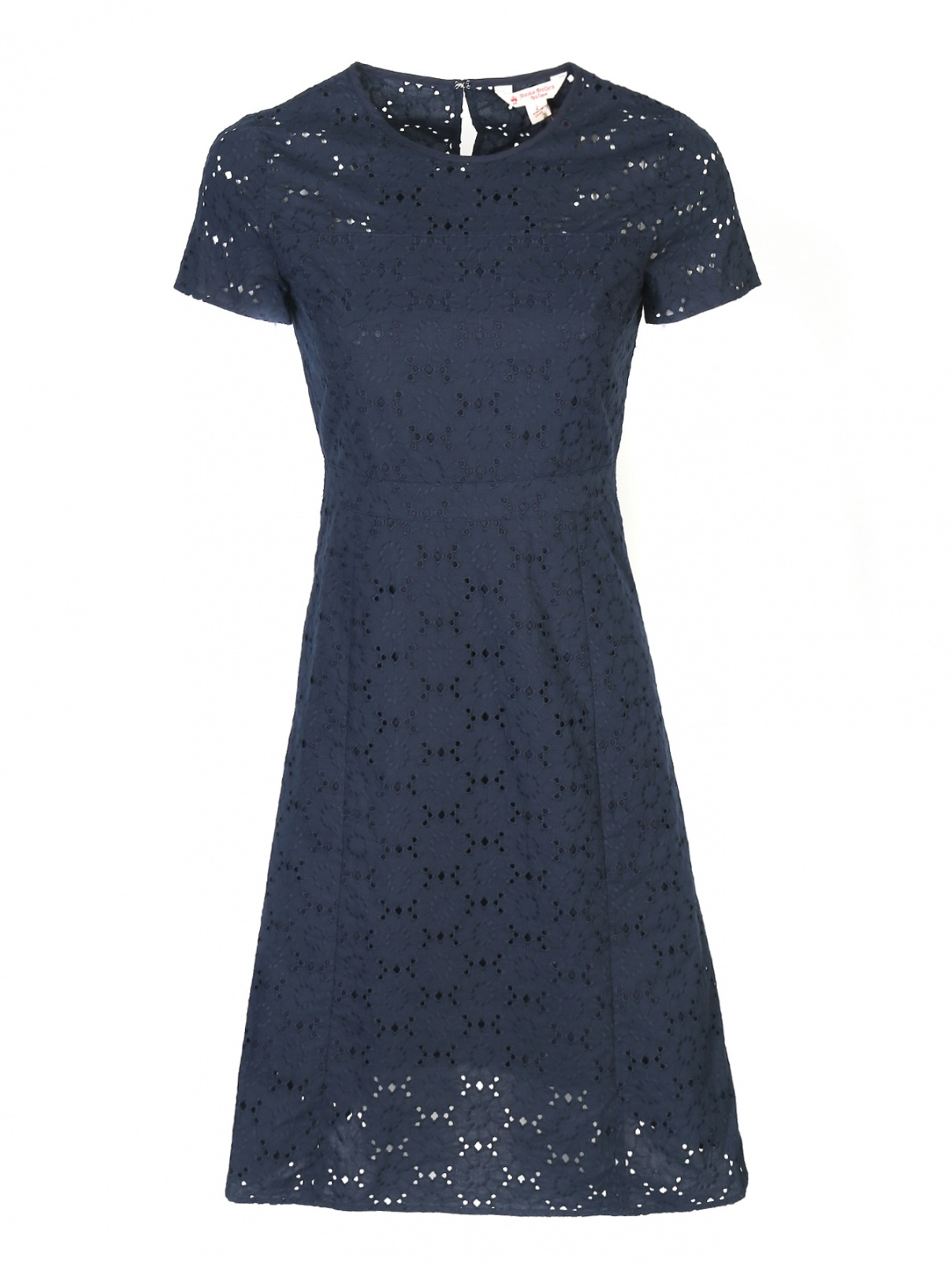 Платье из хлопка с ажурным узором Brooks Brothers  –  Общий вид