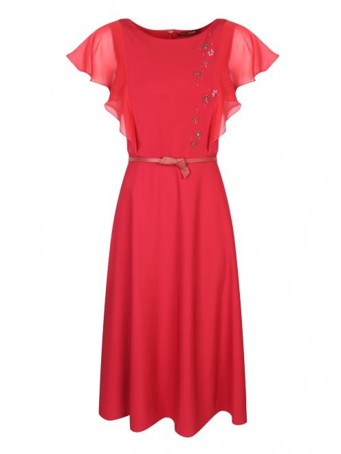 Платье из шелка декорированное бисером - Общий вид