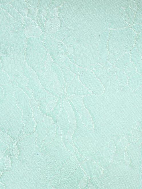 Платье-макси из кружева с контрастной отделкой - Общий вид