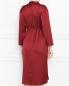 Платье прямого силуэта с поясом Marina Rinaldi  –  МодельВерхНиз1