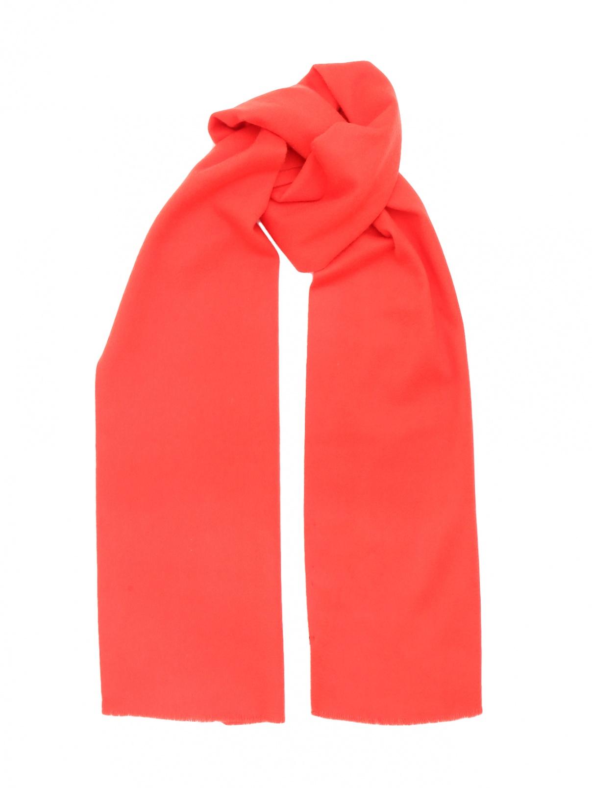 Шарф из шерсти и кашемира Jil Sander  –  Общий вид  – Цвет:  Красный