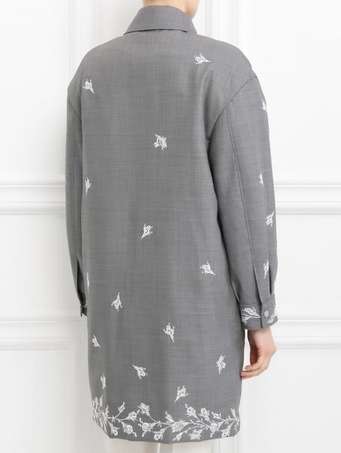 Пальто из шерсти с вышивкой - Модель Верх-Низ1
