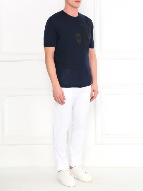 Узкие брюки из хлопка - Общий вид