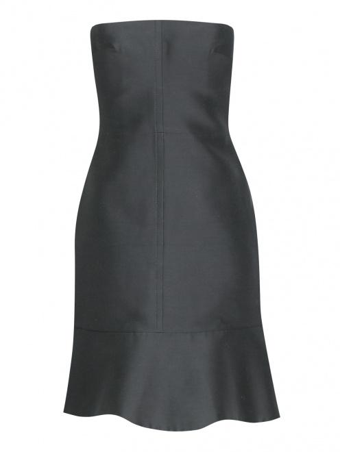 Платье-мини из смешанного шелка - Общий вид