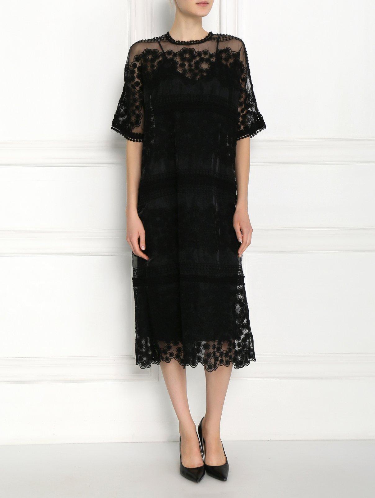 Платье из полупрозрачного кружева Aquilano Rimondi  –  Модель Общий вид