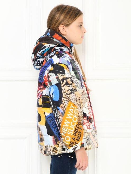 Куртка на молнии с узором - МодельВерхНиз2