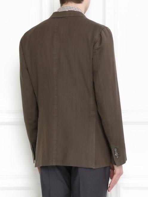 Пиджак однобортный  из шерсти - Модель Верх-Низ1