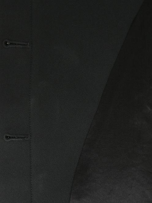 Приталенный жакет из смесовой шерсти с контрастной отделкой - Деталь2