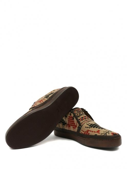 Ботинки из кожи с узором - Обтравка5