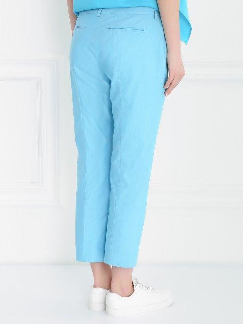 Укороченные брюки из хлопка прямого кроя - Модель Верх-Низ1