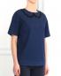 Блуза из денима декорированная бусинами N21  –  Модель Верх-Низ
