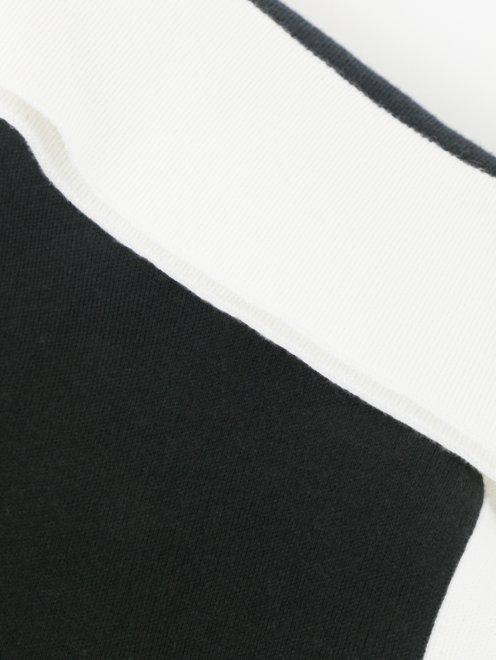 Платье из хлопка и шелка с контрастной отделкой - Деталь
