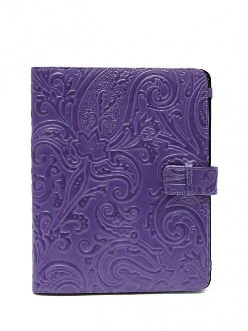 Чехол для iPad из кожи с тиснением - Общий вид