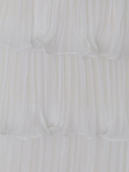 Платье из шелка с плиссировкой и кружевными вставками - Деталь1