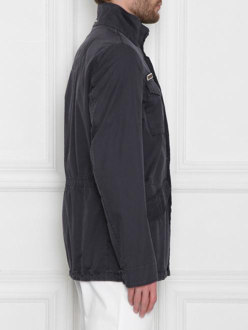 Куртка из хлопка, с накладными карманами  - МодельВерхНиз2