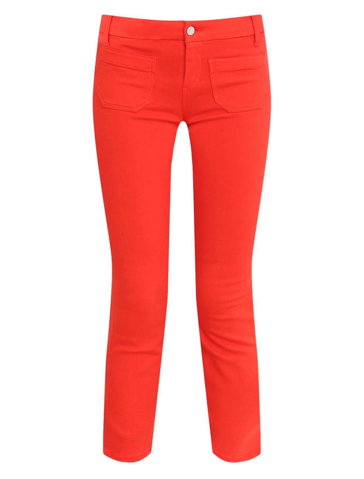 Укороченные джинсы Rich & Royal  –  Общий вид  – Цвет:  Красный