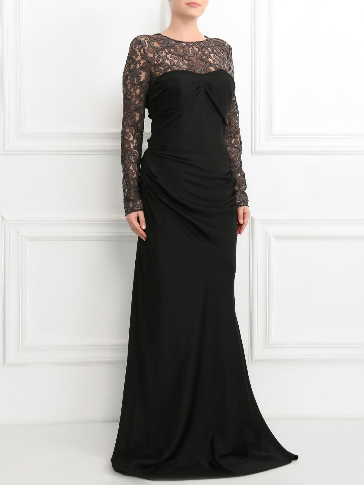 Платье-макси с кружевом Moschino Cheap&Chic  –  Модель Общий вид
