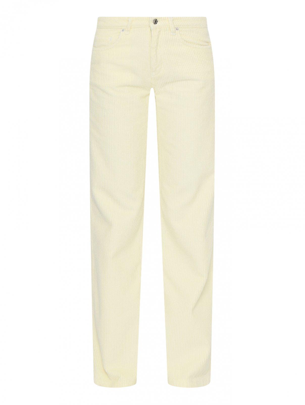 Вельветовые брюки широкого кроя Blanche  –  Общий вид  – Цвет:  Желтый