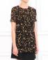 Шелковая блуза с цветочным узором Moschino Cheap&Chic  –  Модель Верх-Низ