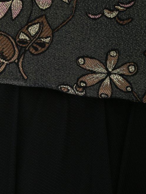 Юбка-макси с узором и контрастной отделкой - Деталь1