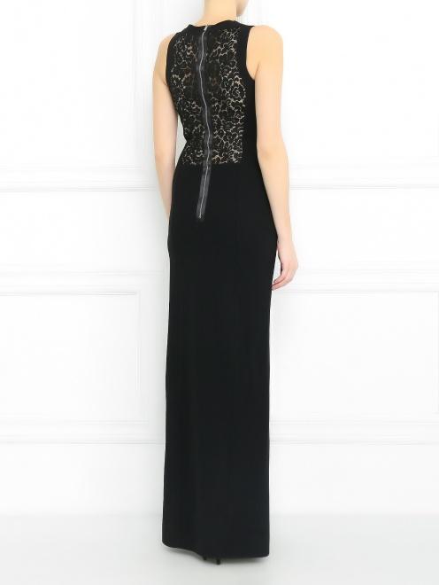 Платье-макси со вставками из кружева - Модель Верх-Низ1