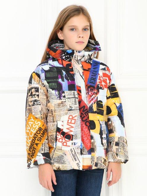 Куртка на молнии с узором - МодельВерхНиз