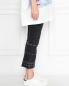 Укороченные джинсы с металлической фурнитурой M.i.h Jeans  –  МодельВерхНиз2