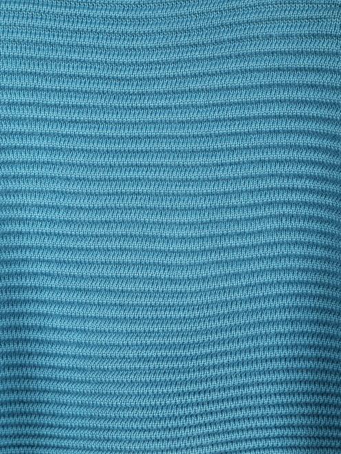 Трикотажное пончо из шерсти фактурной вязки - Деталь