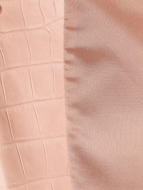 Жакет из кожи с тиснением  - Деталь2