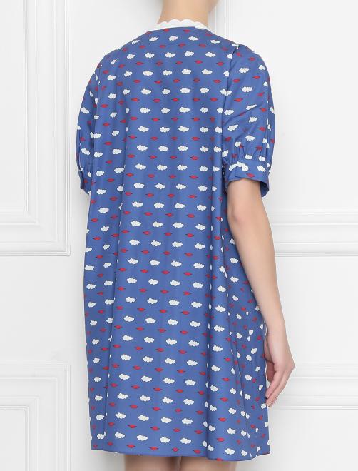 Платье из хлопка с принтом с кружевной вышивкой - МодельВерхНиз1
