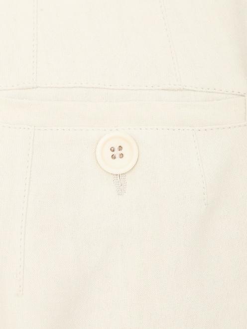 Кюлоты из шелка и льна с карманами - Деталь