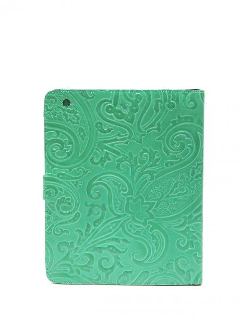 Кожаный чехол для iPad с тиснением - Обтравка2