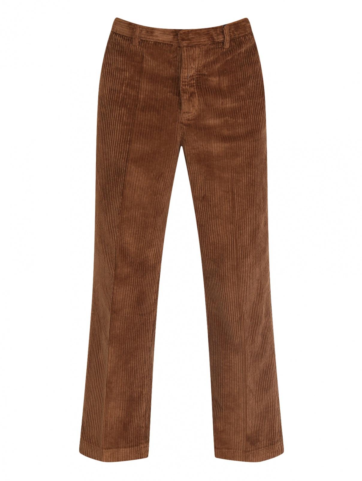 Вельветовые брюки из хлопка Barena  –  Общий вид  – Цвет:  Коричневый