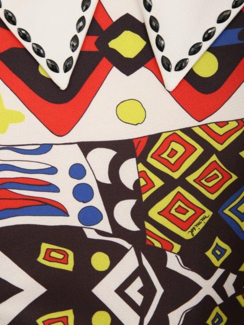 Платье с абстрактным узором - Деталь